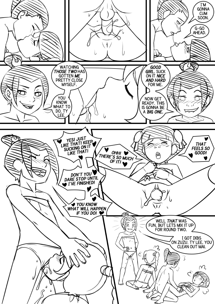 Fire Nation Lolis Page 04 Sketch