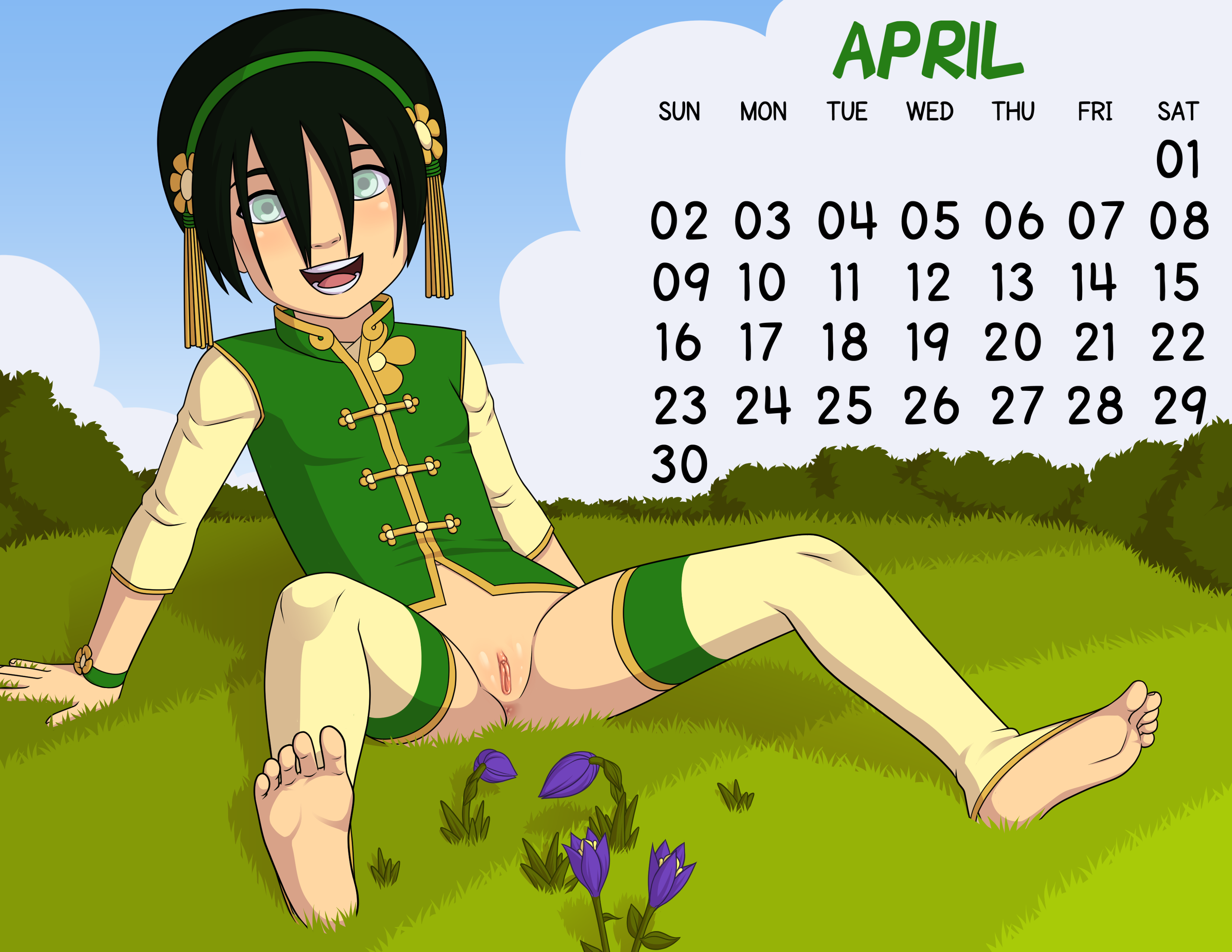 Loli Club Calendar 04 April Toph