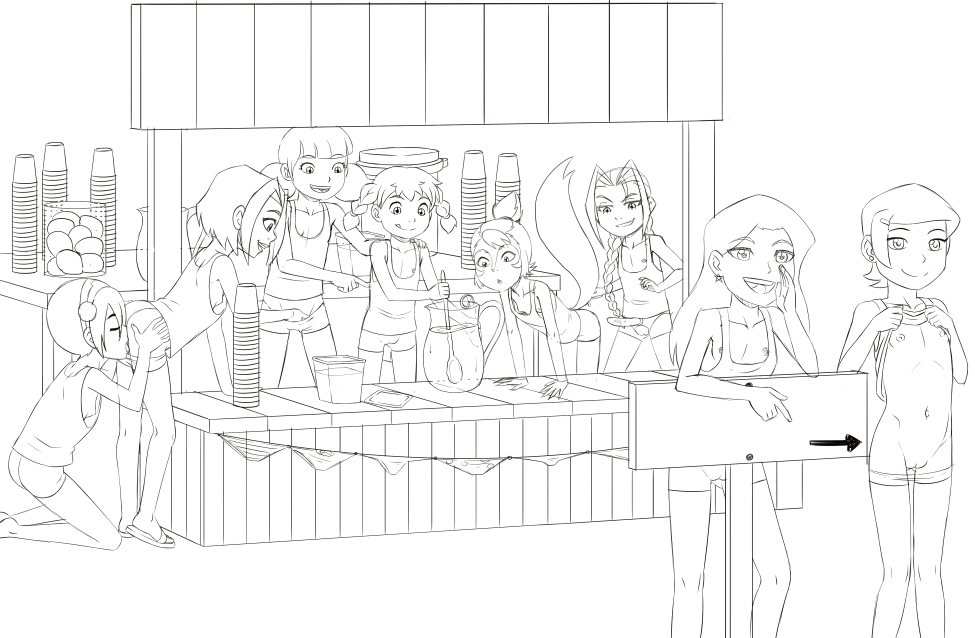 Loli Club Fundraiser 01 Lemonade Stand Sketch