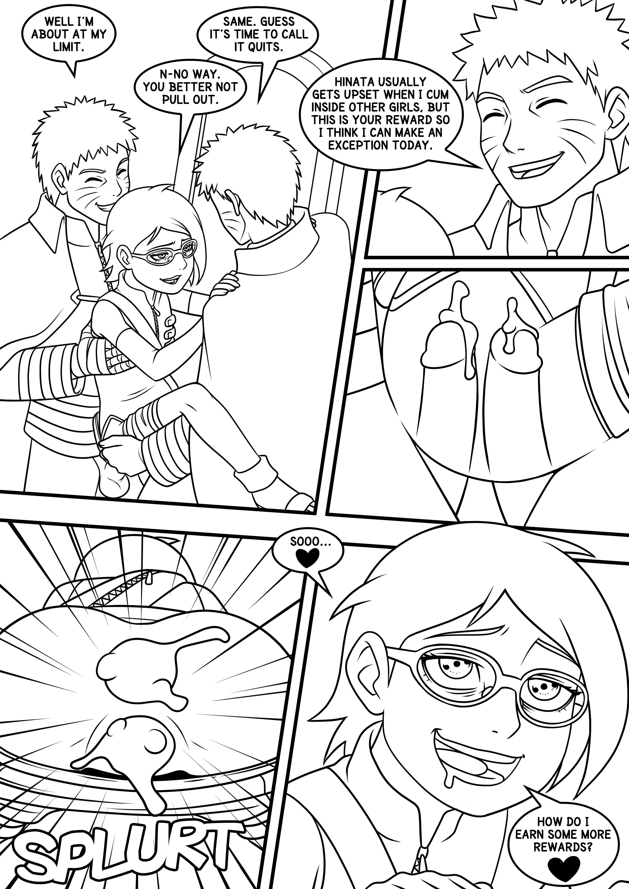 Naruto Sarada Page 04 Lines
