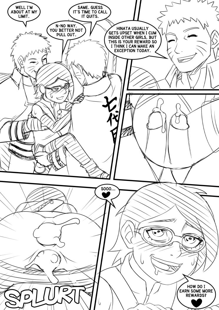 Naruto Sarada Page 04 Sketch